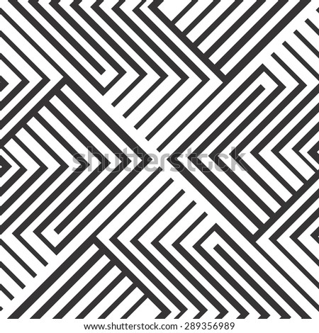 Seamless pattern. Black and white stripes design. - stock vector