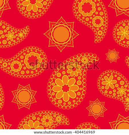 Seamless pattern boho chic. A series of universal patterns. - stock vector