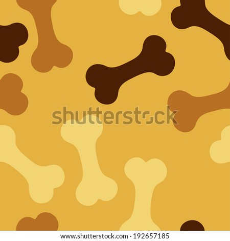 seamless pattern, bone for a dog - stock vector