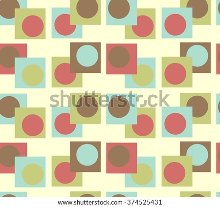 seamless pattern bubbles in boxes; yellow brown