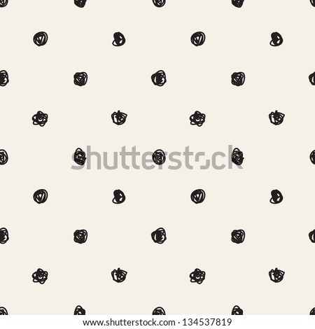 Seamless pattern. Casual polka dot texture. Stylish doodle - stock vector