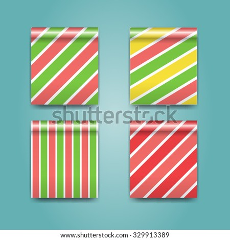 Seamless pattern Christmas packaging paper - stock vector