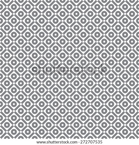 Seamless pattern. Classic simple geometric texture with repeated rhombuses, squares, dots, circles. Monochrome. Backdrop. Web. Vector illustration - stock vector