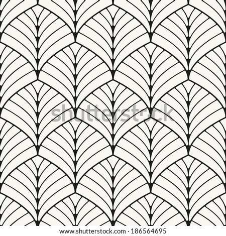 Seamless pattern. Classical antique ornament. Geometric stylish background. Vector repeating texture - stock vector