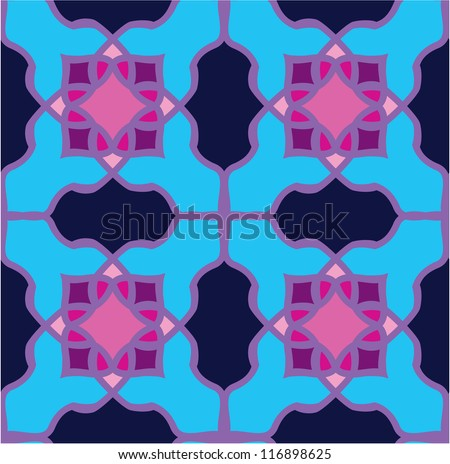 seamless pattern - classical arabic stained-glass window ornament - stock vector