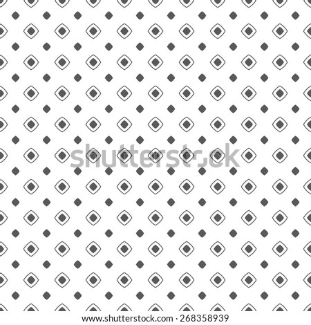 Seamless pattern. Classical geometric texture with repeating rhombuses. Black. White. Monochrome. Backdrop. Web. Vector illustration for your design - stock vector