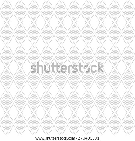 Seamless pattern. Classical geometric texture with the repeating dots, rhombuses. Monochrome. Backdrop. Web. Vector illustration for your design - stock vector
