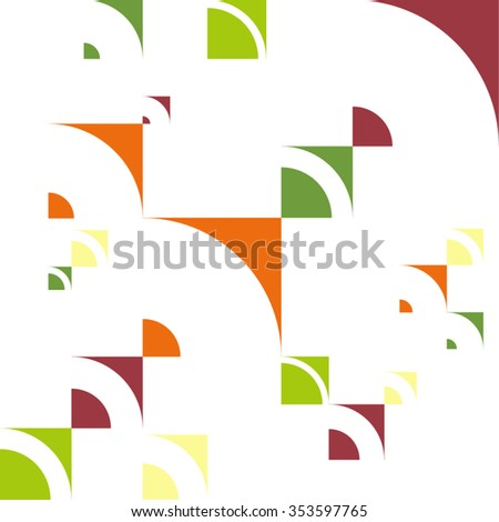 Seamless pattern. Colorful modern geometric abstract background template with designed ornament shapes. Vector abstraction beautiful illustration with place for your text. Poster, business card.  - stock vector