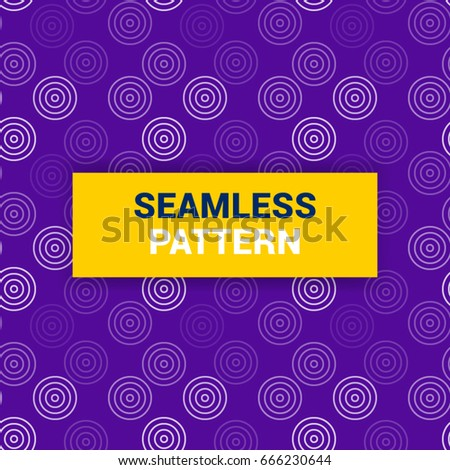Seamless Pattern Design Of Purple And White Dotes Vector Background Wallpaper Print Ready