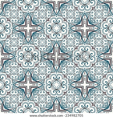 seamless pattern: detailed stylized vector persian ornament - stock vector