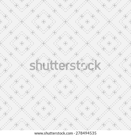 Seamless pattern. Elegant geometric texture with dashed lines and arcs. Repeating rhombuses. Vector background. Monochrome. Backdrop. Web. Vector illustration for your design - stock vector