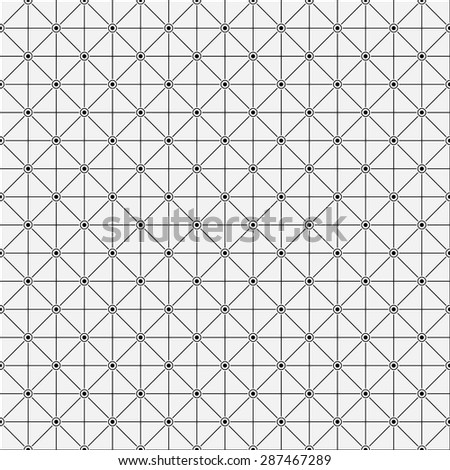 Seamless pattern. Elegant geometric texture with thin lines. Repeating geometrical shapes, rhombuses, dots, lines, circles. Monochrome. Backdrop. Web. Vector element of graphic design for your project - stock vector