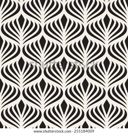 Seamless pattern. Elegant linear ornament. Geometric stylish background. Vector repeating texture - stock vector
