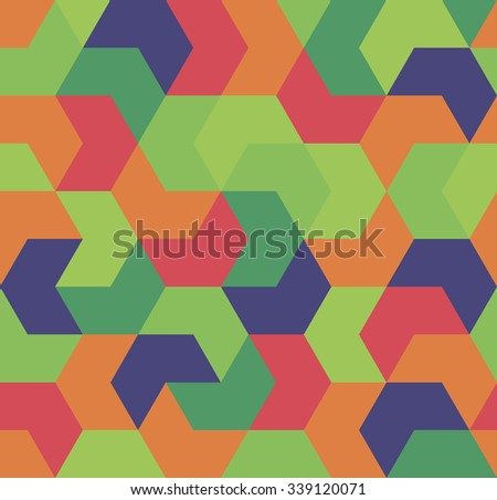 Seamless pattern. Endless background of geometric shapes. Arrow seamless pattern. Geometric pattern. Wallpaper. Vector illustration. - stock vector