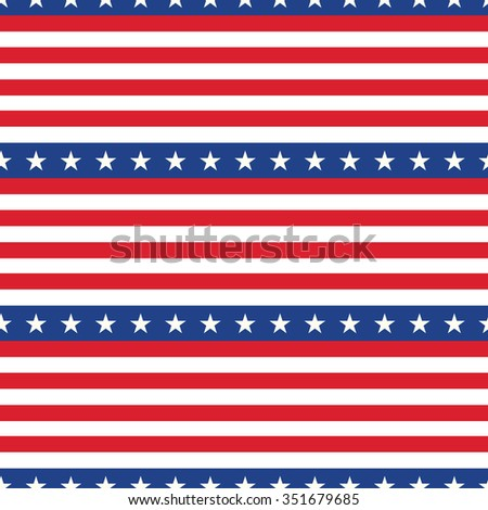 Seamless pattern. Flag of the USA. - stock vector