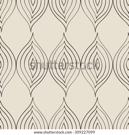 Seamless pattern, floral pattern, seamless texture with stylized leaves, Vector - stock vector