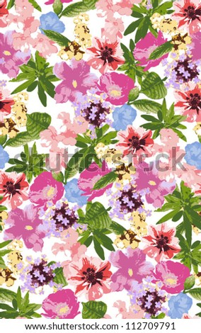 seamless pattern, floral, tropical flowers,chic style pattern,sweater - stock vector