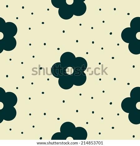 Seamless pattern flower - stock vector