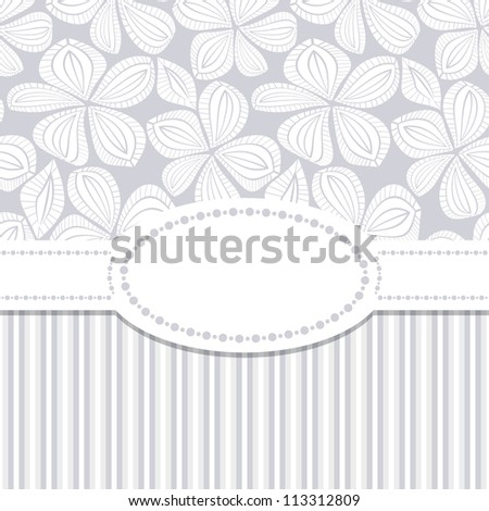 Seamless pattern. Flower greeting card. Wedding invitation - stock vector
