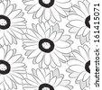 seamless pattern , flowers, - stock