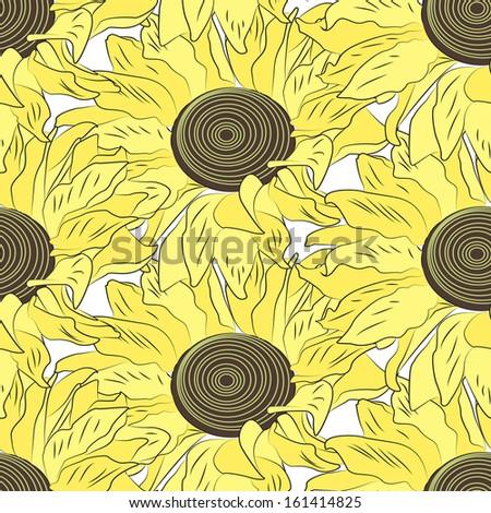 seamless pattern , flowers, - stock vector