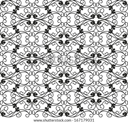 Seamless pattern for a fabric, papers, tiles. - stock vector