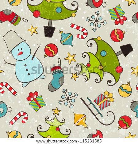 Seamless pattern for Christmas design. EPS 10 vector illustration. - stock vector