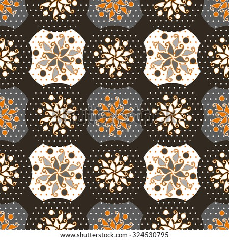 Seamless pattern for decoration, patterns in the form of flowers. Print for paper wallpaper, tiles, textiles. Vector illustration. - stock vector