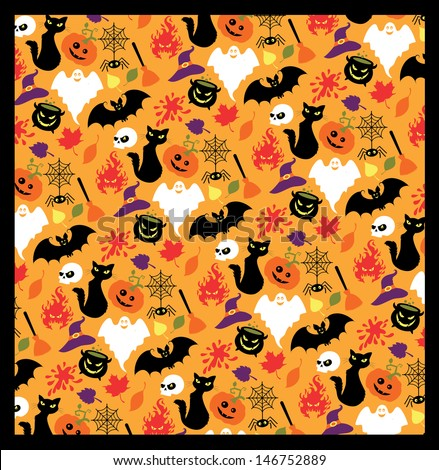 Seamless pattern for Halloween. - stock vector