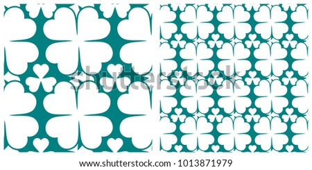 Seamless pattern  for Saint Patrick's Day of clover or shamrock.