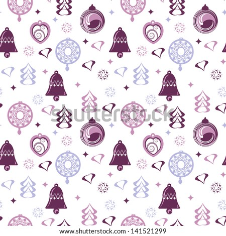 seamless pattern for winter holidays - stock vector