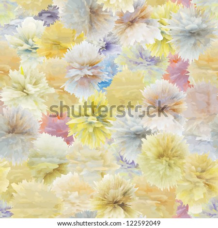 Seamless pattern from abstract flowers - vector texture - stock vector