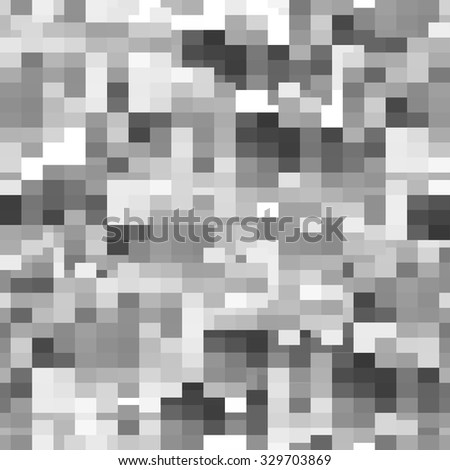 Seamless pattern. Geometric greyscale mosaic pixelated background. Vector illustration EPS10 - stock vector