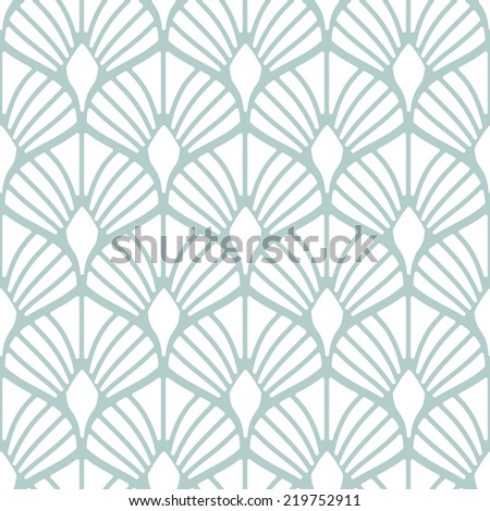 Seamless pattern. Geometric stylish background. Vector repeating texture. Stylized shells - stock vector
