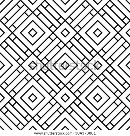 Seamless pattern, geometric texture. Monochrome. Backdrop. Vector illustration