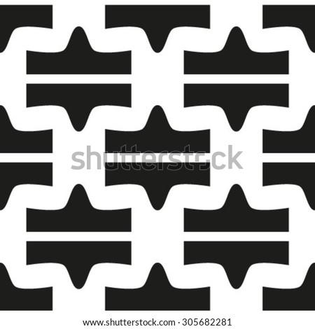 Seamless pattern, geometric texture. Monochrome. Backdrop. Vector illustration - stock vector