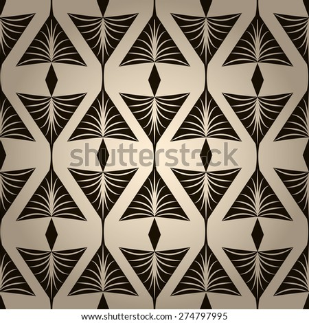 Seamless pattern, graphic ornament stylish background. Vector repeating texture with stylized elements - stock vector