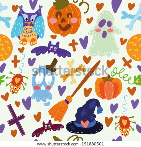 Seamless pattern/ Halloween. Seamless pattern can be used for wallpaper, pattern fills, web page background,surface textures for your design - stock vector