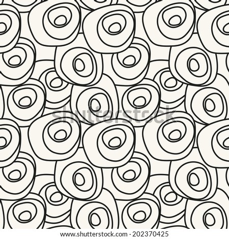 Seamless pattern. Hand drawn abstract texture. Stylish graphical background - stock vector