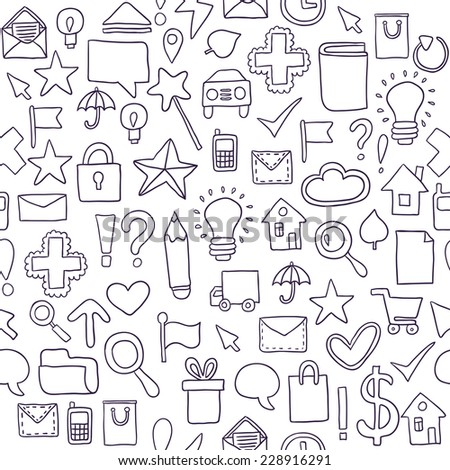 Seamless pattern Icons. Vector illustration - stock vector