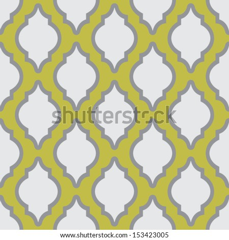 Seamless pattern in arab style for web design or home decor - stock vector