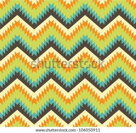 Seamless pattern in aztec style - stock vector