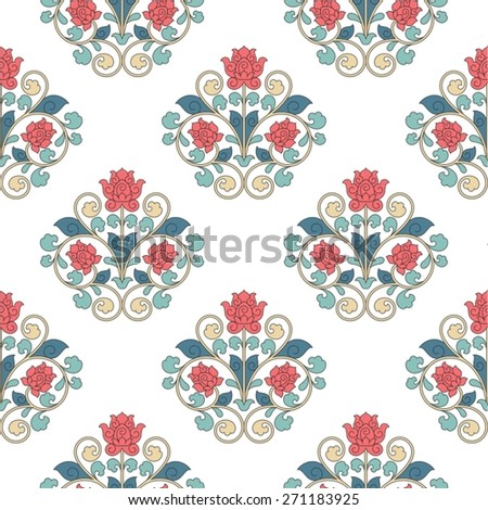 Seamless pattern in China style. - stock vector