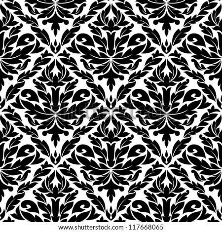 Seamless pattern in damask style for background design. Jpeg version also available in gallery - stock vector