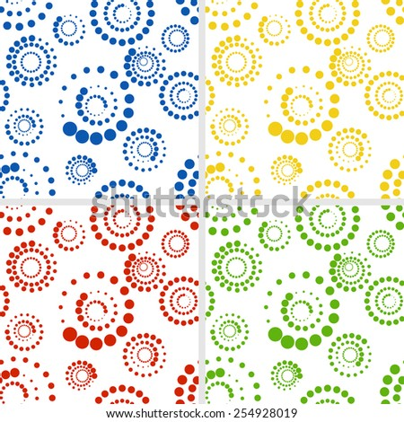Seamless pattern in four color variation. - stock vector