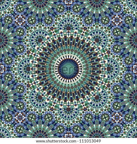 Seamless pattern in moroccan style mosaic tile islamic traditional