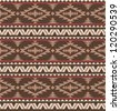 Seamless pattern in navajo style - stock vector