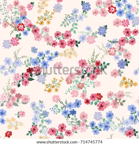 Seamless pattern small pretty flowers liberty stock vector 714745774 seamless pattern in small pretty flowers liberty style millefleurs floral background for textile mightylinksfo