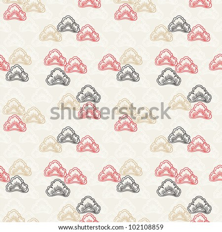 Seamless pattern in traditional japanese style #2 - stock vector