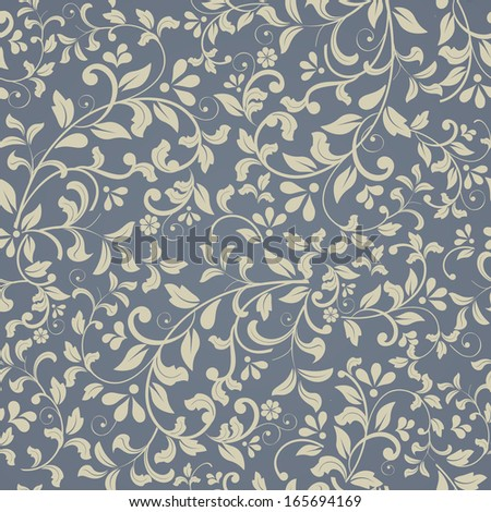 seamless pattern in Victorian style - stock vector